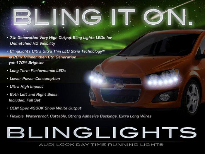 Chevrolet Sonic LED DRL Head Lamp Daytime Running Light Strips