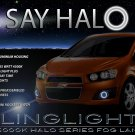 2012 2013 2014 Chevy Sonic Halo Fog Lamp Driving Light Kit Chevrolet Angel Eye Drivinglights