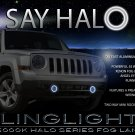 2011-2016 Jeep Patriot Halo Fog Lamp Driving Light Kit Angel Eyes