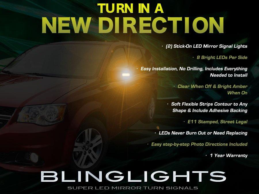 Dodge Grand Caravan LED Side Mirror Turn Signal Lights Lamp Kit Pair