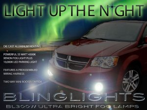 2011-2014 Dodge Grand Caravan Fog Lamp Driving Light Kit Xenon