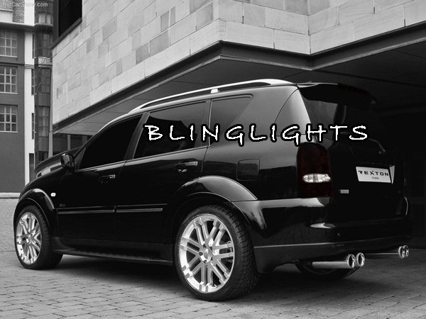 SsangYong Rexton Tinted Smoked Taillamps Taillights Tail Lamps Lights Protection Overlays Film
