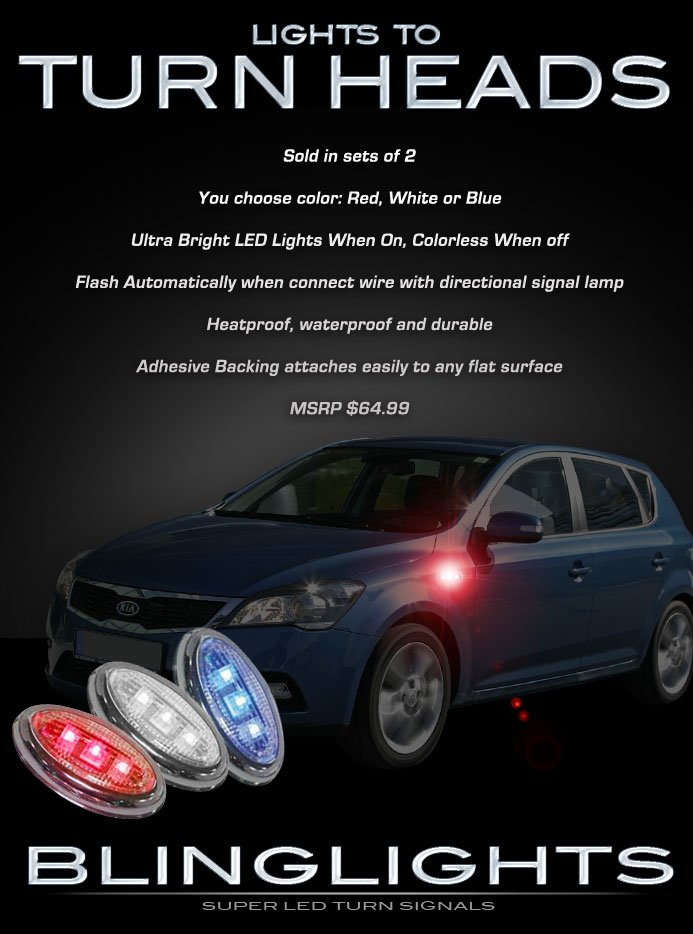 Kia Cee'd Ceed LED Side Markers Turnsignals Accents Turn Signals Signaler Lights LEDs Lamps