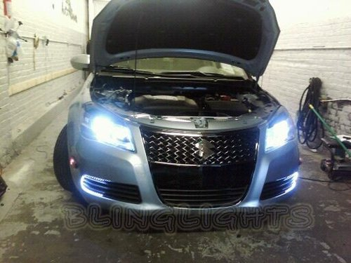 2010 2011 2012 Suzuki Kizashi White Replacement Light Bulbs Headlamps Headlights Head Lamps Lights