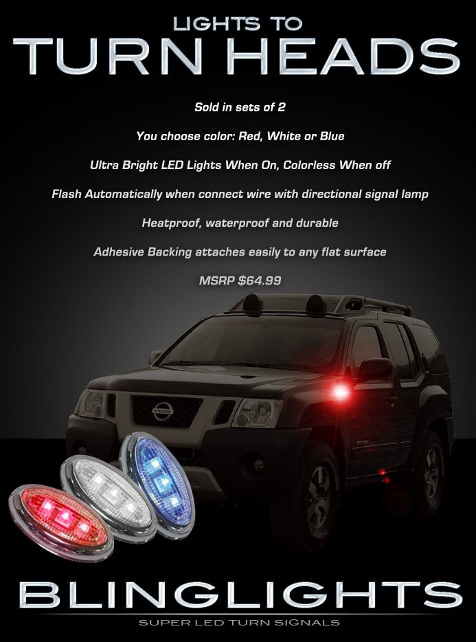 Nissan Xterra LED Marker Lights Turnsignal Accent Lamps LEDs Turn Signal Markers Signaler Accents