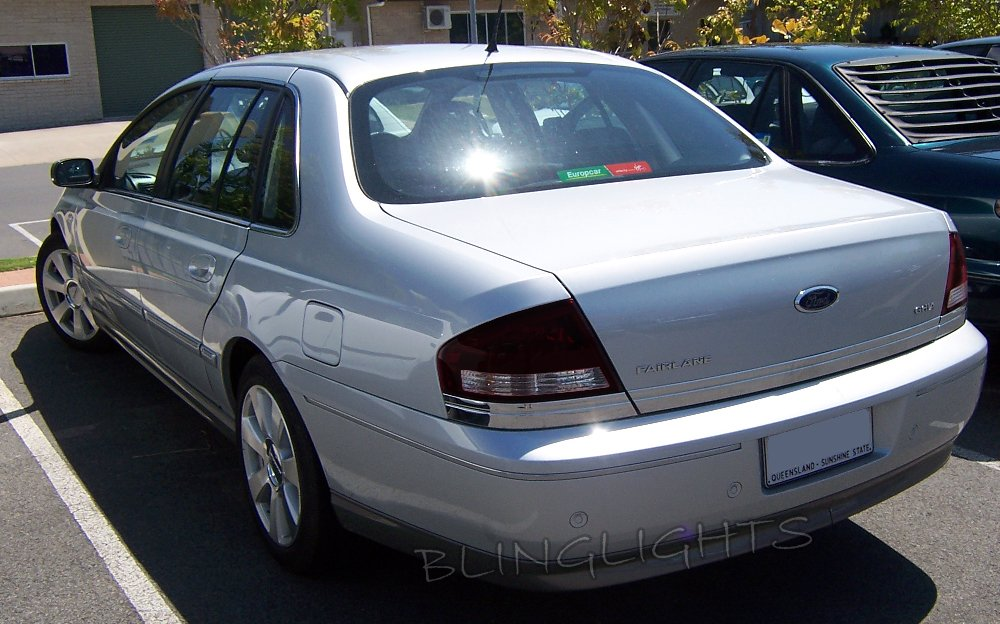 Ford Fairlane Tint Film Overlays Taillamps Taillights Tail Lamps Lights Tinted Ghia AU BA BF