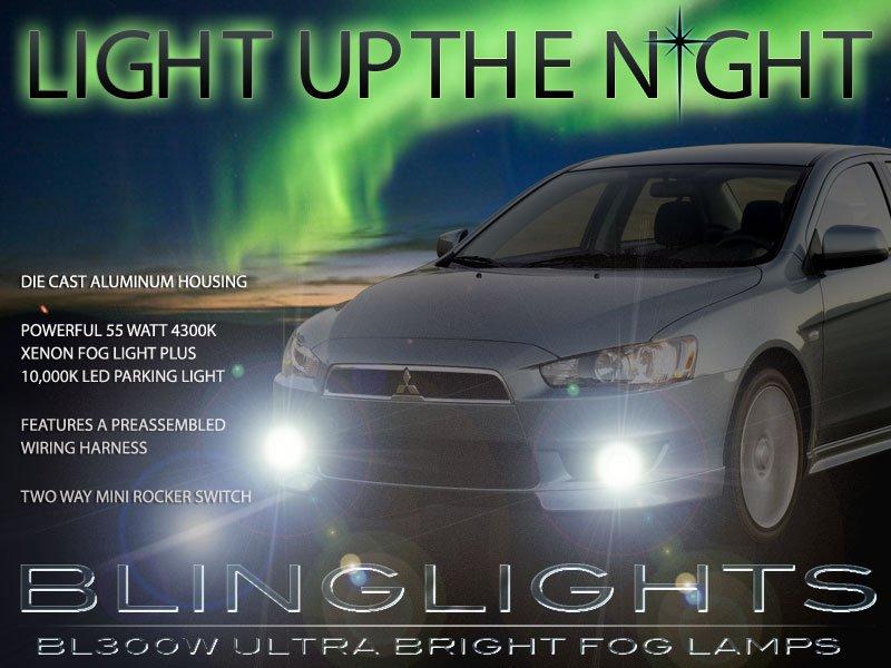 2008-2016 Mitsubishi Lancer Bumper Fog Lamps Driving Lights ACTiV DE ES SE GT GTS