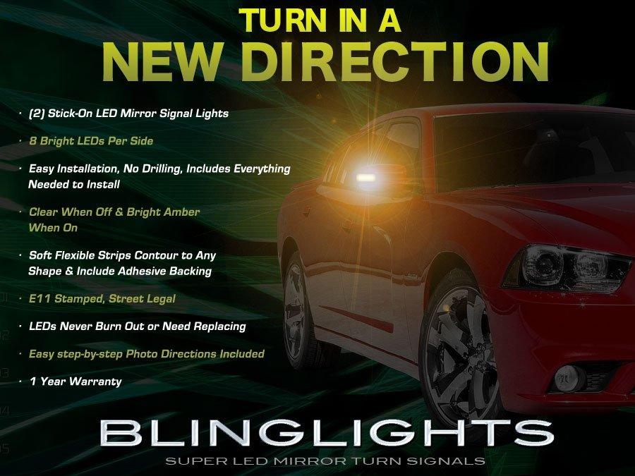 Dodge Magnum LED Side Mirror Light Turn Signal Lamp Kit Blinkers set