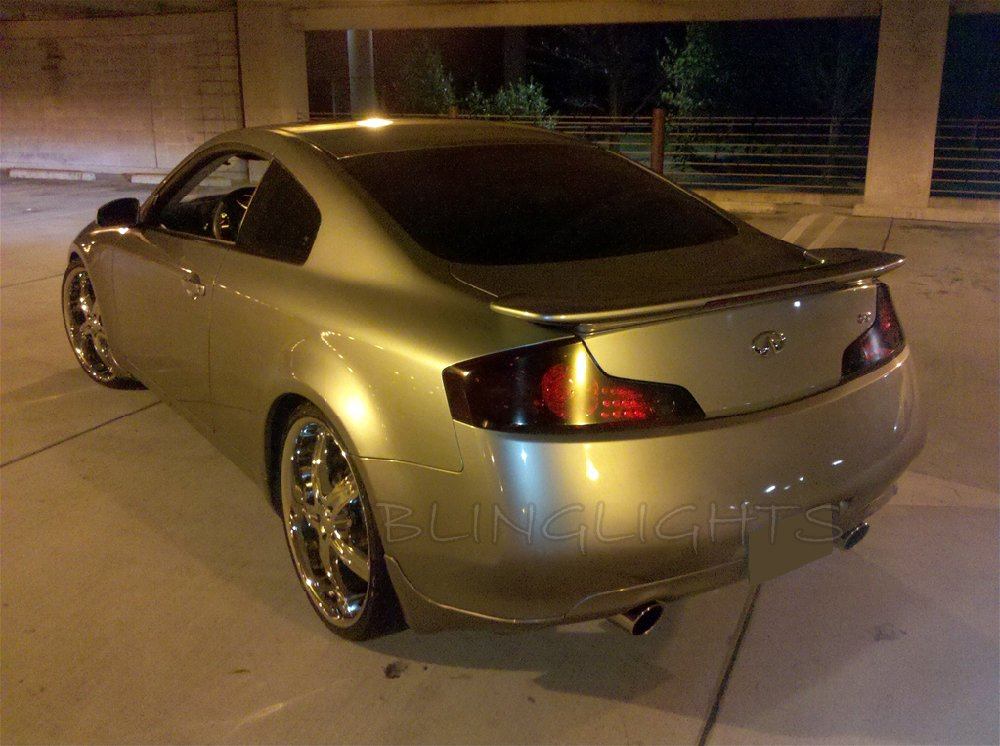 Infiniti G35 Coupe Sedan Tinted Smoked Taillamps Taillights Overlays Film Protection