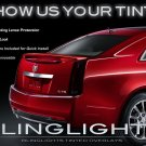 Cadillac CTS Smoked Taillamps Taillights Tail Lamps Lights Tint Protection Film Overlays
