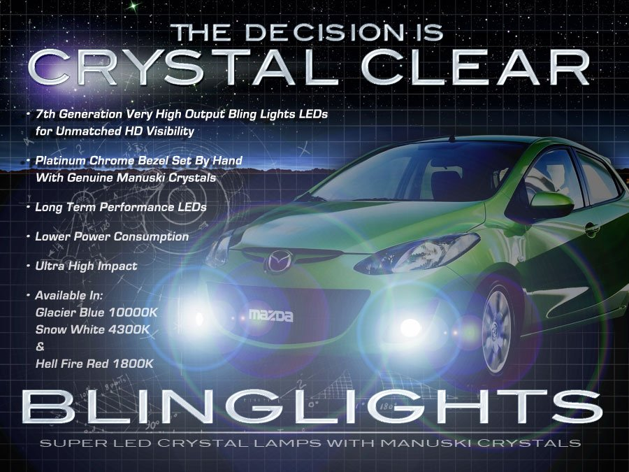 2010 2011 2012 2013  2014 Mazda2 Fog Lamps Lights