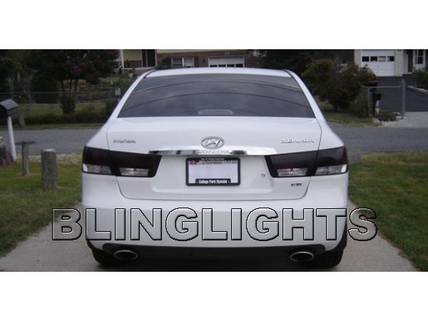 2006-2010 Hyundai Sonata Tinted Smoked Taillamps Taillights Overlays Film Protection