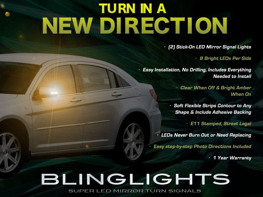 Chrysler Sebring Side Mirror LED Turnsignals Lights Turn Signals Lamps LEDs Mirrors Signalers Marker