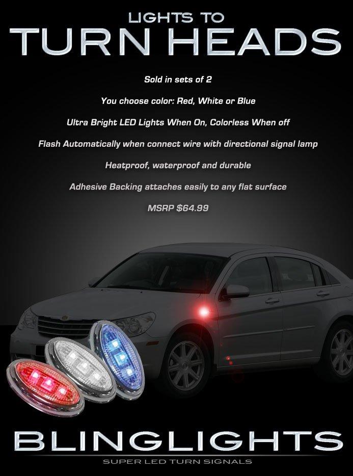 Chrysler Sebring LED Side Markers Turnsignals LEDs Accents Lights Turn Signals Lamps Signalers Light
