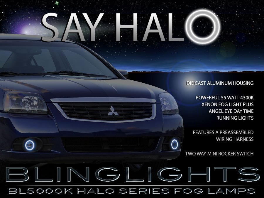 2009 2010 2011 Mitsubishi Galant Halo Foglamps Angel Eye Foglights Driving Fog Lamps Halos Lights