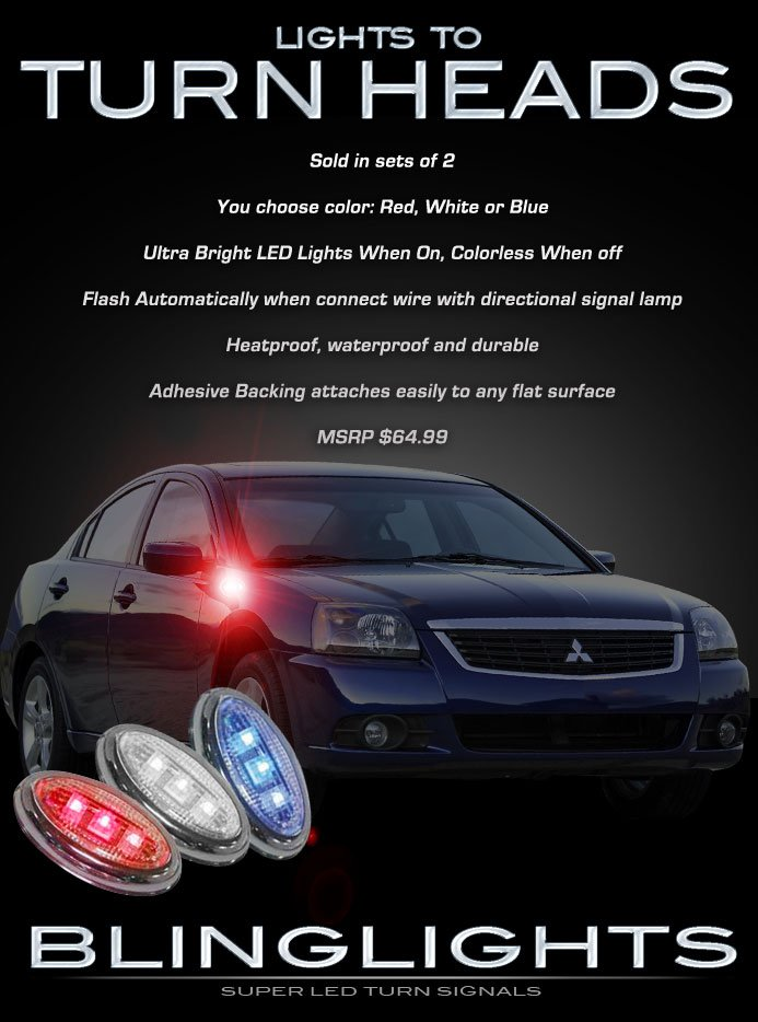 Mitsubishi Galant Side LED Turnsignals Accent Turn Signals Marker Signalers LEDs Lights Lamps