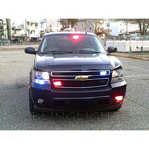 Chevy Suburban Strobe Lights Head Tail Lamps Strobes Headlamps Headlights Taillamps Chevrolet Police