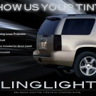 Chevy Tahoe Murdered Out Taillights Protective Overlays Lense Film Tinted Taillamps Kit