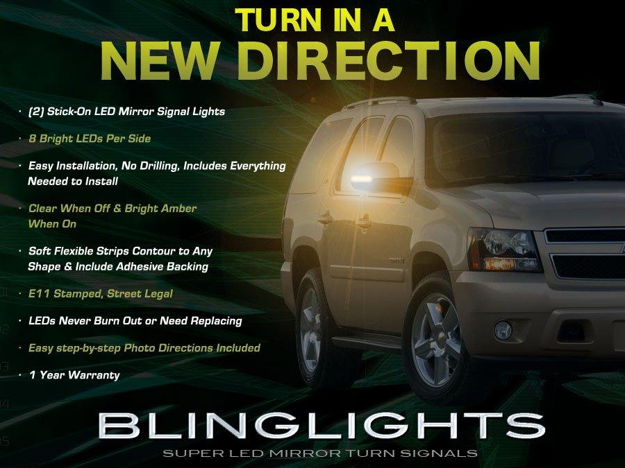 GMC Yukon LED Side View Mirror Turnsignals Lights GMT400 GMT800 GMT900