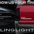 2009-2015 Toyota Tacoma Tinted Tail Light Covers Lamp Overlays
