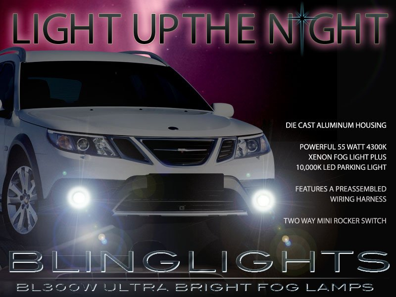 2008 2009 2010 2011 2012 Saab 9-3 SportCombi 9-3X Wagon Xenon Foglamps Fog Lamps Lights Kit