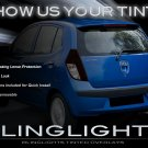 Hyundai i10 Tinted Smoked Taillamps Taillights Overlays Film Protection