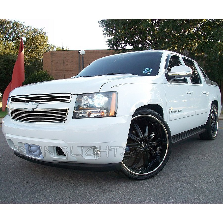 Chevy Avalanche White Light Bulbs for Headlamps Headlights Head Lamps Lights Chevrolet GMT800 GMT900