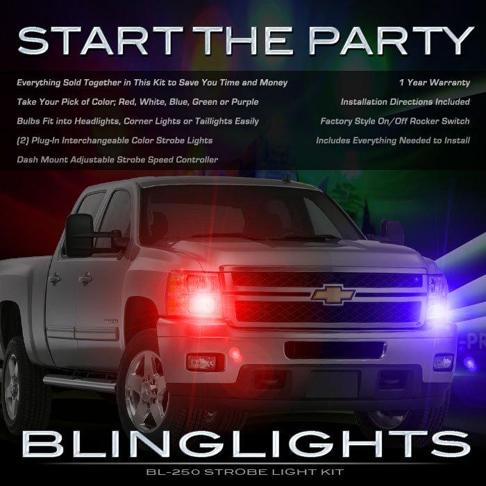 GMC Sierra Strobe Lights Head Tail Lamps Strobes Headlamps Headlights Taillamps Taillights Police