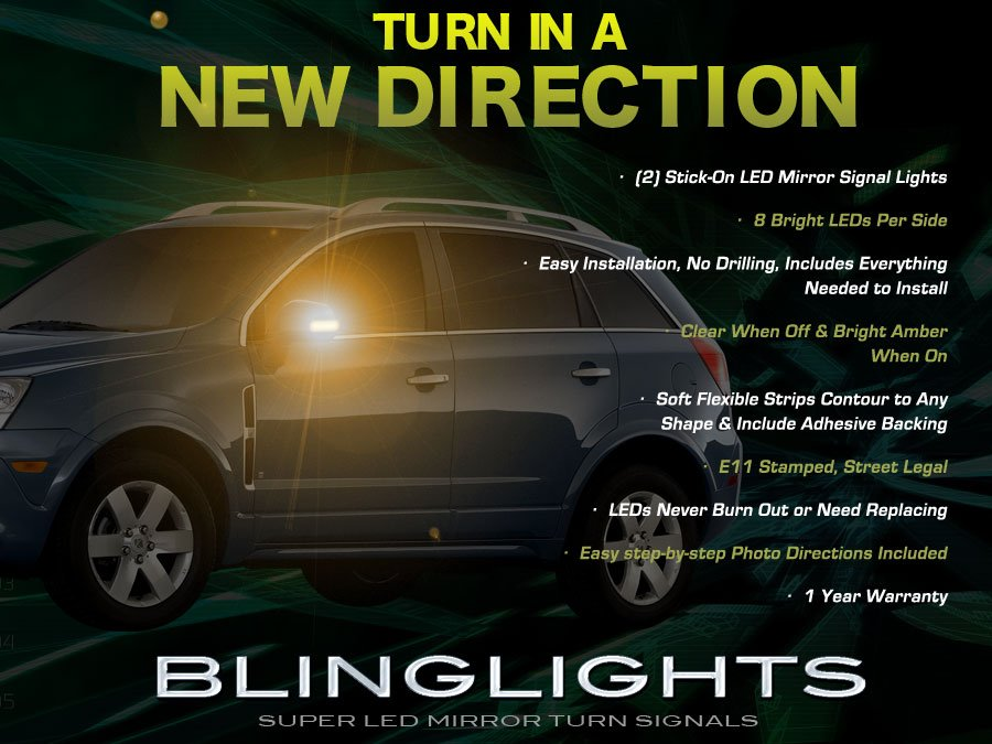 Opel Vauxhall Antara Side Mirror Turn Signal Light Lamps Signalers Kit
