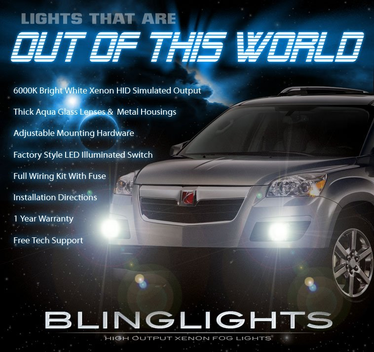 Saturn Outlook Foglamps Bumper Drivinglight Kit 2007 2008 2009 2010