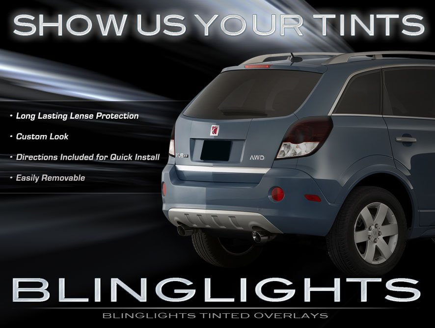2008 2009 2010 Saturn Vue Tinted Taillamp Overlays Lense Covers