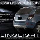Holden Captiva Tint Smoke Overlays for Taillamps Taillights Tail Lamps Lights Tinted Smoked Film