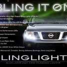 2005-2013 Nissan Frontier LED DRL Head Lamp Light Strips Day Time Running Lamps Kit