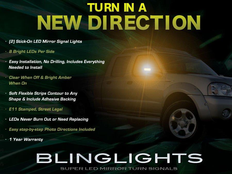 Nissan Navara LED Side Mirror Turnsignal Lights D22 D40 D23 addon