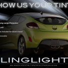 Hyundai Veloster Tinted Smoked Tail Lamp Light Overlays Film Protection