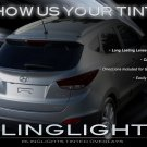 2010+ Hyundai Tucson ix35 Tinted Tail Lamp Light Overlays Kit Smoked Film Protection