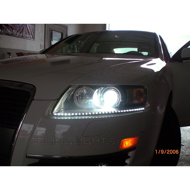 Audi A6 Bright White Light Bulbs for Halogen Headlamps Headlights Head Lamps Lights