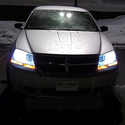 Dodge Avenger Bright White Replacement Light Bulbs for Headlamps Headlights Head Lamps Lights