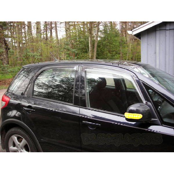 Suzuki SX4 LED Side View Mirror Turnsignals Lights Accents Turn Signals Mirrors Signalers Lamps