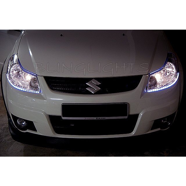 Suzuki SX4 LED DRL Light Strips for Headlamps Headlights Head Lamps Day Time Running Strip Lights