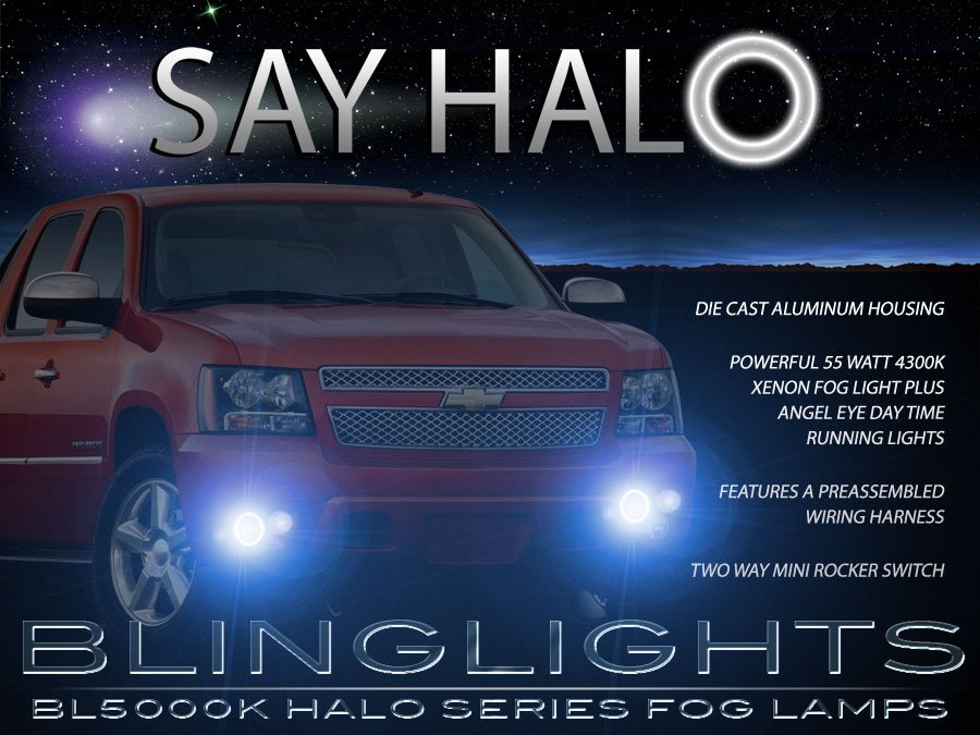2007 2008 2009 2010 2011 Chevrolet Chevy Avalnche Halo Foglamps Angel Eye Fog Lamps Lights Kit