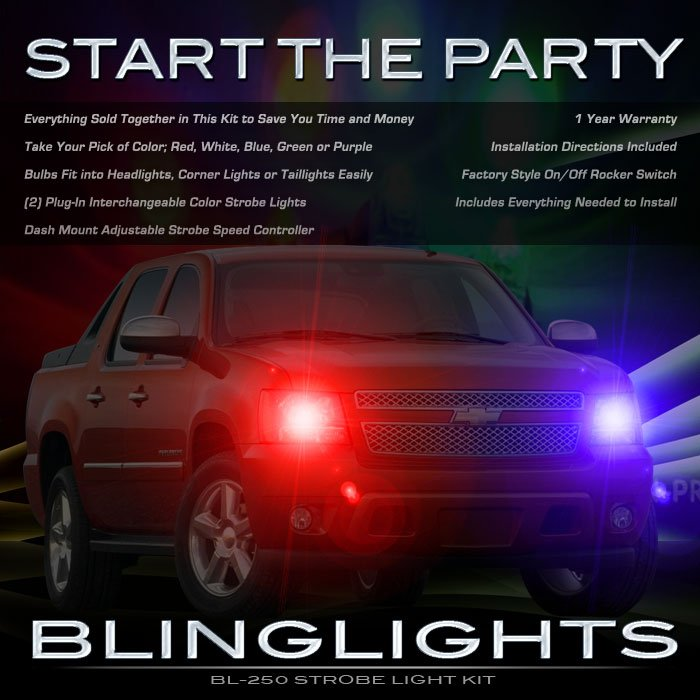 Chevy Avalanche Strobe Lights Head Tail Lamps Strobes Chevrolet Headlamps Headlights Taillamps Kit