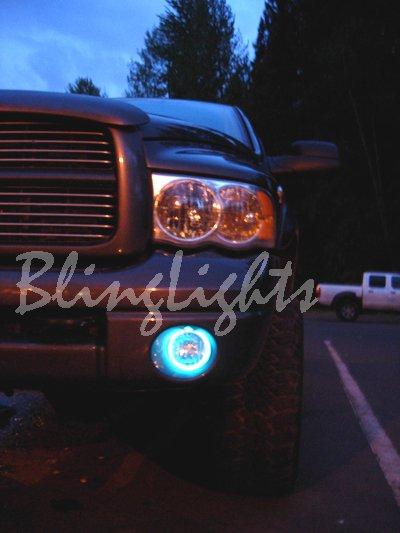 2005 2006 2007 Dodge Dakota White Halo Angel Eye Fog Lights Lamps Kit