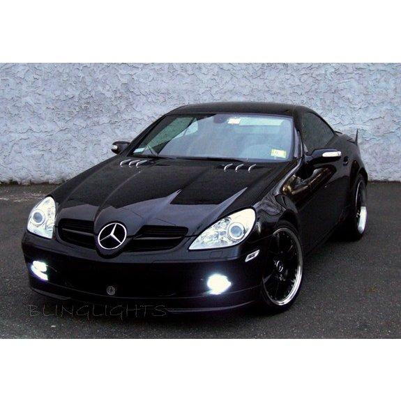 2008 2009 2010 2011 Mercedes R171 SLK 200 Kompressor LED Foglamps Fog Lamps SLK200 Driving Lights