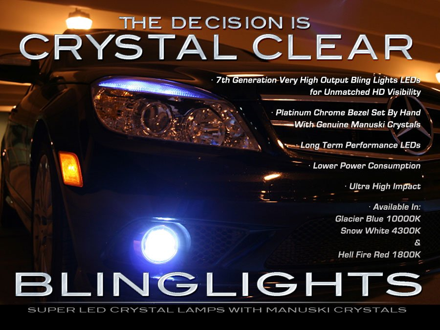 2008 2009 2010 Mercedes-Benz C300 Sport Sedan LED Foglamps Fog Lamps Driving Lights Kit C 300 w204