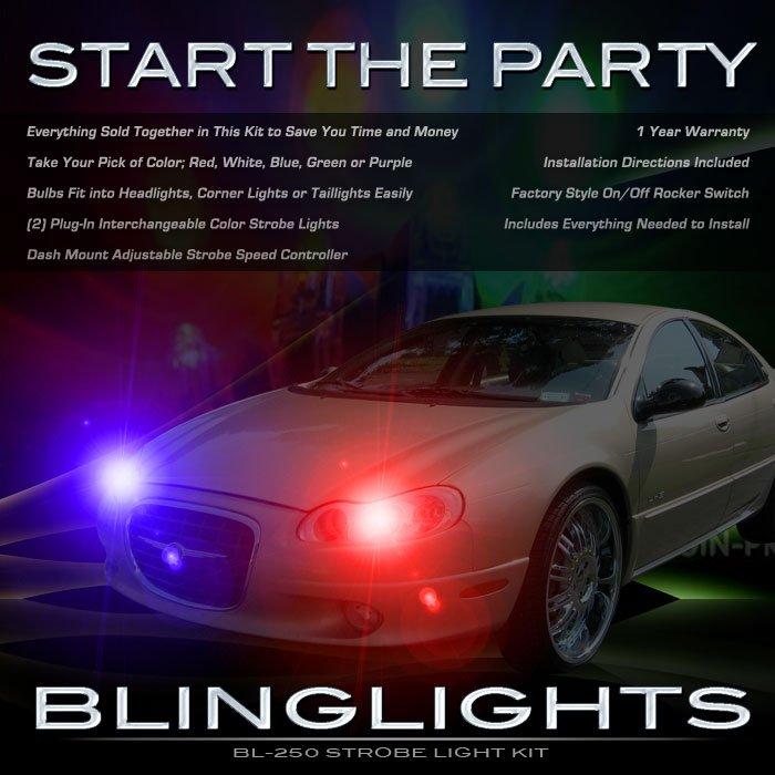 Chrysler LHS Strobe Lights for Headlamps Headlights Head Lamps Police Strobes Light Lamp Kit