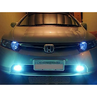 2006 2007 2008 Honda Civic Sedan Fog Lamps Lights Kit DX LX EX EX-L Xenon Foglamp Drivinglight Kit