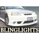 2001 2002 2003 Honda Civic Erebuni Body Kit Bumper Foglamps Foglights Fog Lamps Driving Lights