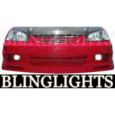 2001 2002 2003 Honda Civic Aerogear Body Kit Bumper Foglamps Foglights Fog Lamps Driving Lights