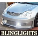 2002 2003 2004 2005 Honda Civic Si Silk Automotive Body Kit Bumper Foglamps Fog Lamps Driving Lights